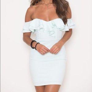 BNWT - Mint Off Shoulder Dress - Small
